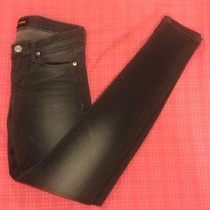 New Hudson Krista skinny jeans- grey sz 25